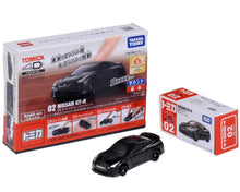 Load image into Gallery viewer, Takara Tomy Tomica 4D 02 Nissan GT-R Black Sound Vibrate Car