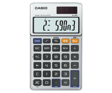 Casio SL-880 Game Calculator Vintage Retro MG-880 Space Invaders