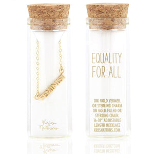 KRIS NATIONS FEMINIST NECKLACE - NON/PER