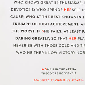WOMAN IN THE ARENA PRINT - NON/PER