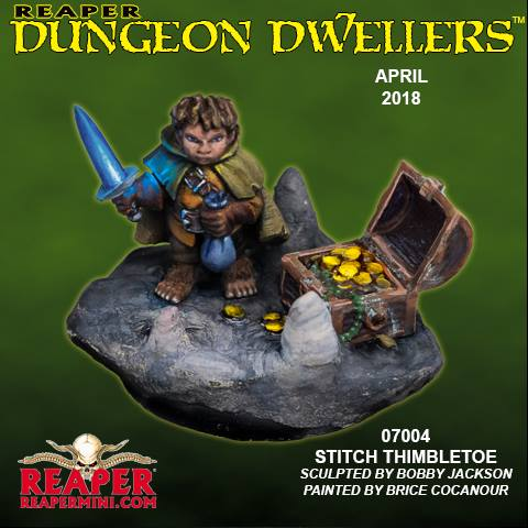 Reaper Miniatures - Male Halfling Thief - painted