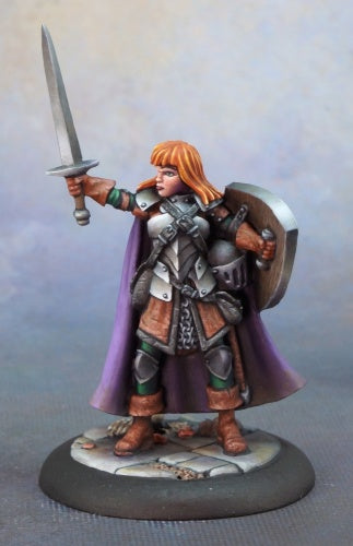 Reaper Minis - Female Human Fighter - painted
