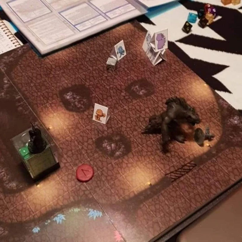 dnd battle mat book - 1 inch grid