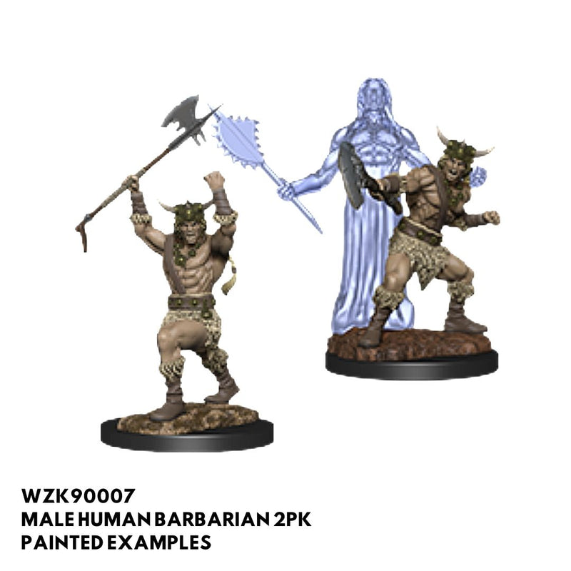 d&d miniatures - male human barbarian