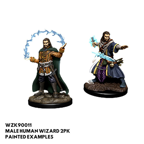 d&d miniatures - male human wizard