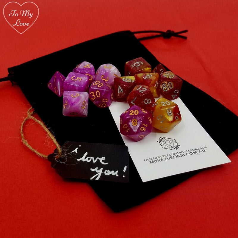 D&D Dice Sets - Valentines Day