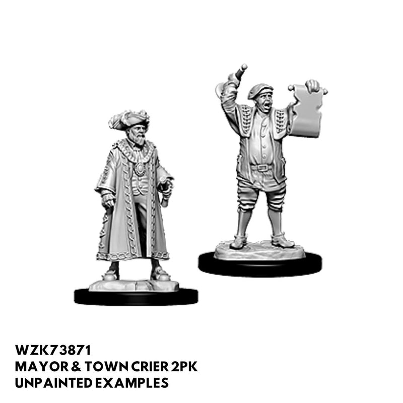 mayor and town crier - dnd painted npc minis