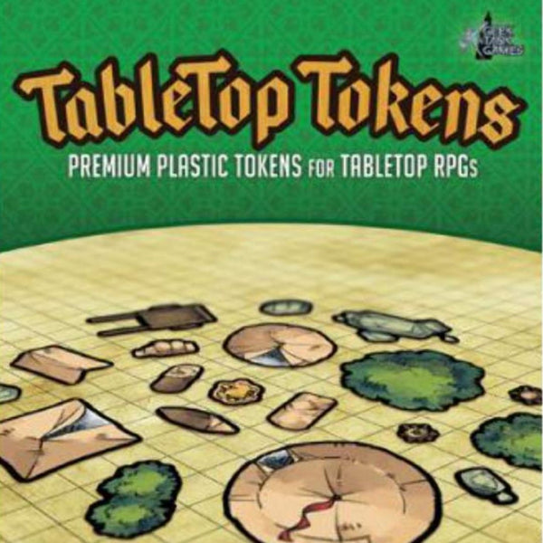 Tabletop Tokens: Camping Set  ||  Geek Tank Games: Premium Plastic Tokens