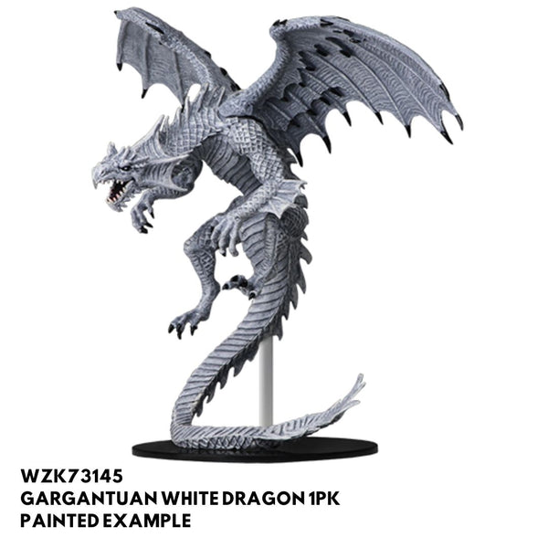 gargantuan white dragon - pathfinder miniatures