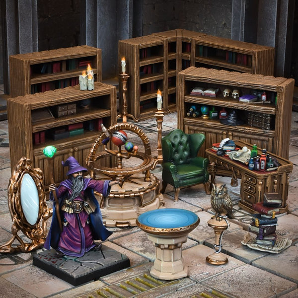 TerrainCrate Wizards Study - dnd terrain & scenery 28mm scale