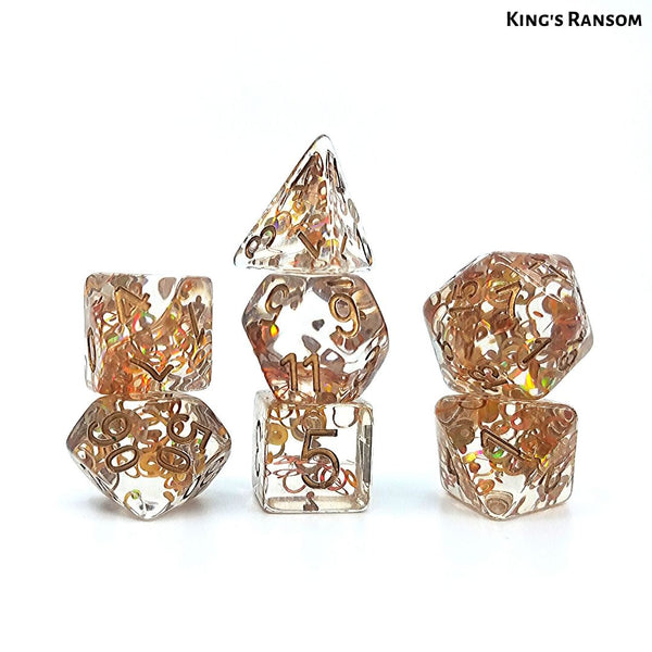 DnD Dice - King's Ransom - Copper Confetti Dice