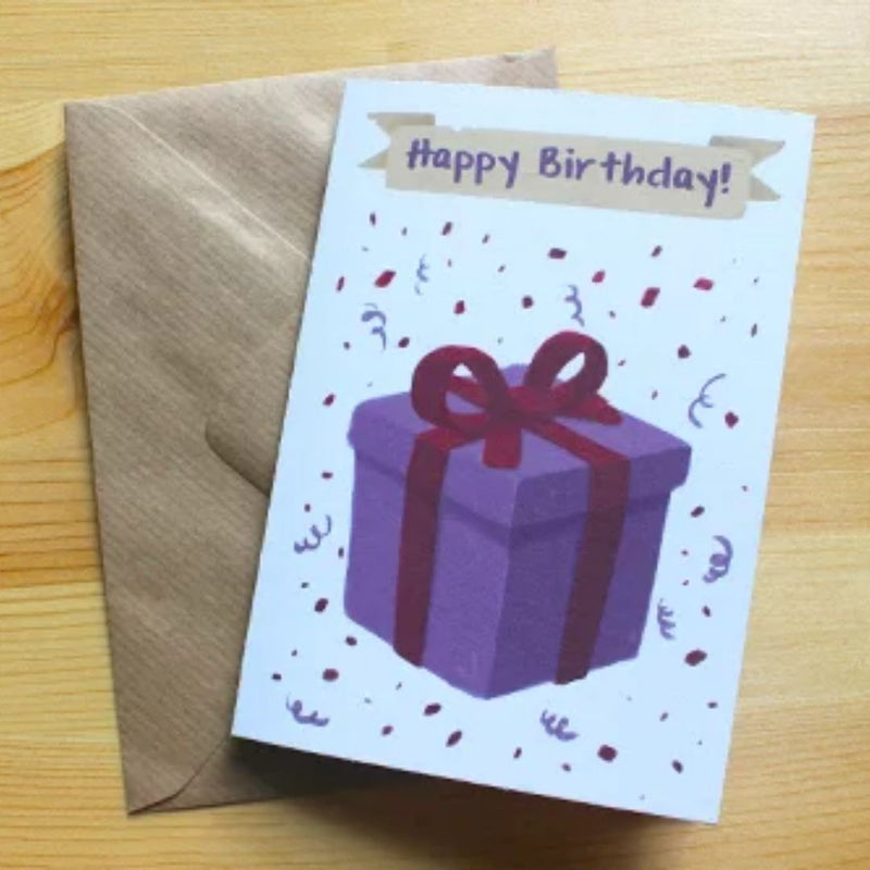 Birthday Card - Mimic Giftbox - DND Australia