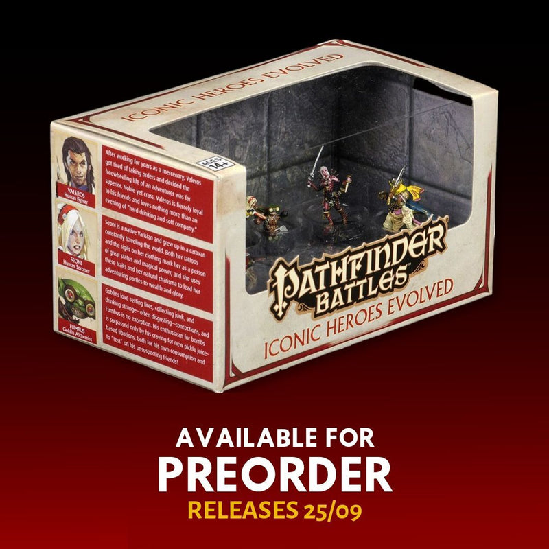 DnD Miniatures - Pathfinder Battles: Iconic Heroes Evolved 6pk - Boxed