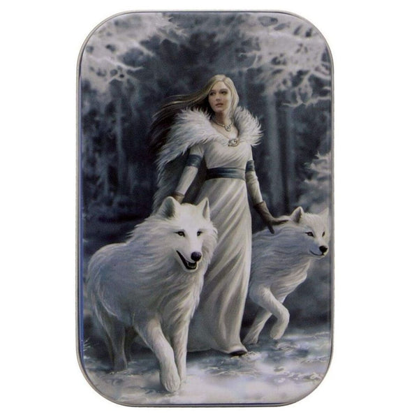 Spirit of Equinox - Winter Guardian & Wolves Dice Tin - Front