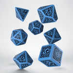 Azathoth cthulhu dice - blue with black numbering