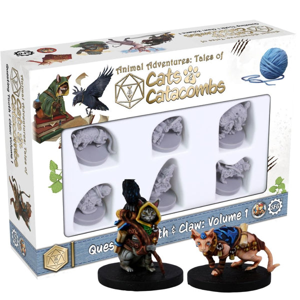 Cats and Catacombs - d&d miniatures - famliars
