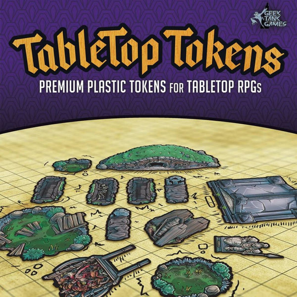 Tabletop Tokens: Graveyard Set  ||  Geek Tank Games: Premium Plastic Tokens
