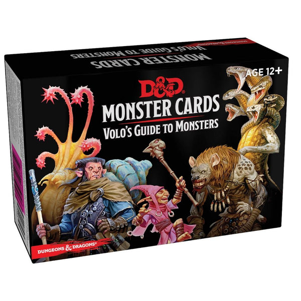 D&D Monsters: Volo's Guide to Monsters (81 cards)  ||  D&D Card Decks