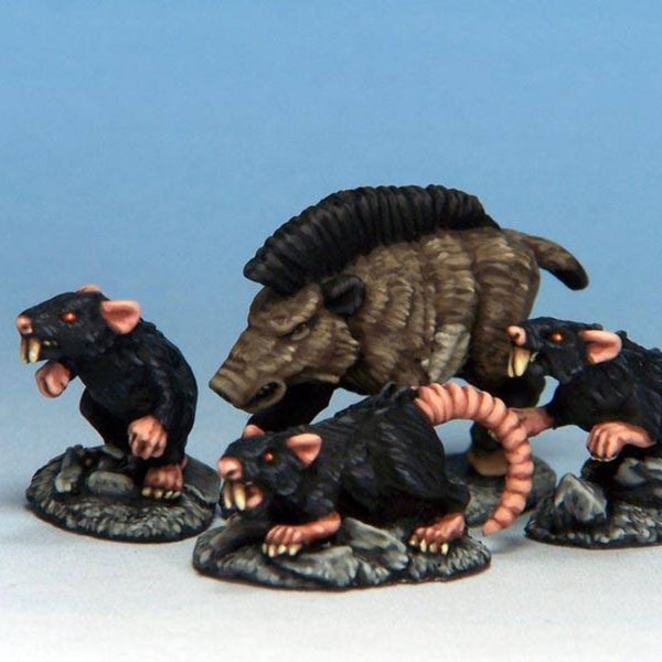 Rangers of Shadow Deep - Giant Rats - D&D minis