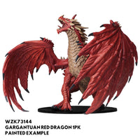 pathfinder miniature - gargantuan red dragon