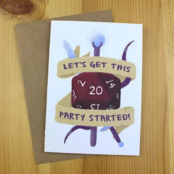 Greeting Card - Let's Get This Party Started - DND Australia