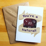 You're A Natural 20! - Greeting Card - D&D Australia