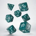 qworkshop stormy green dice with white numbers