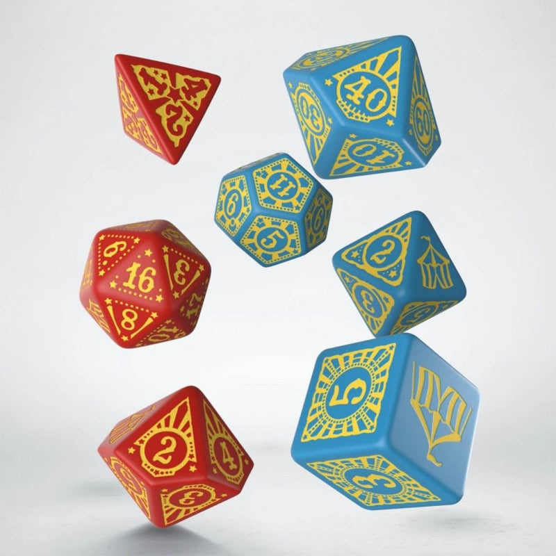pathfinder entertainers rpg dice - blue and red