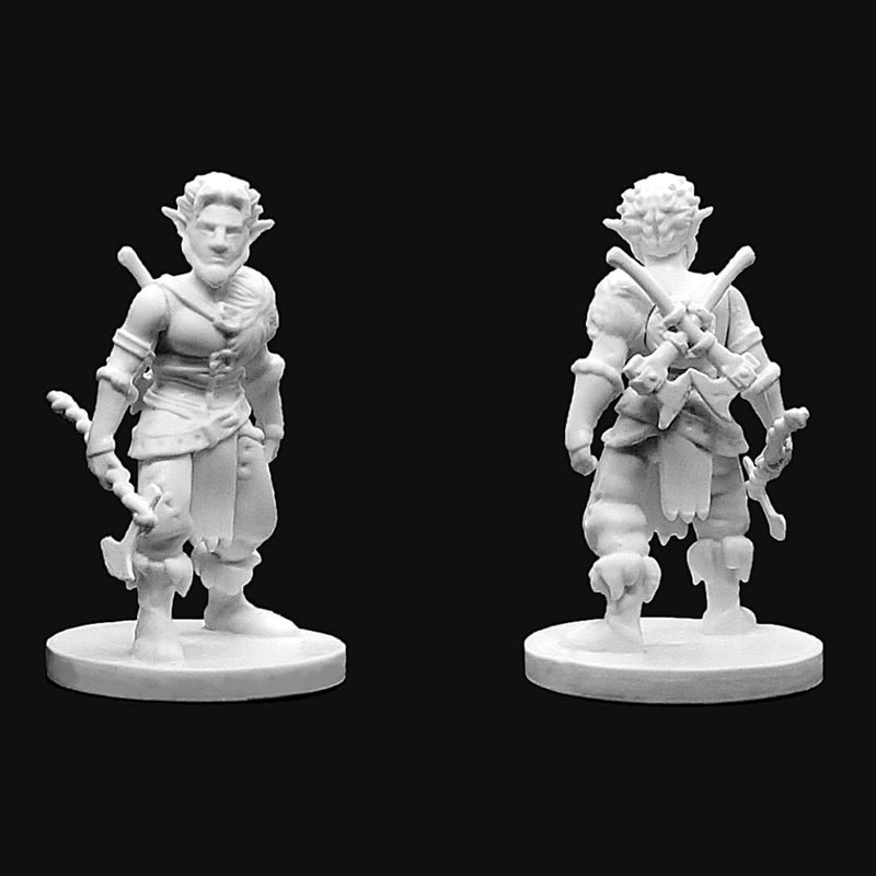 RPG Miniatures - Male Firbolg Barbarian - krakenship miniatures - unpainted