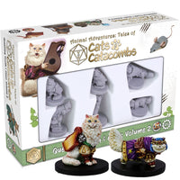 d&d miniatures - cats and catacombs - animal familiars