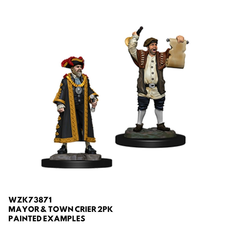 mayor and town crier - dnd painted townsfolk minis