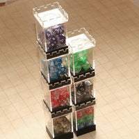 DnD Dice - Stackable Dice Tower Case - Stacked & nested
