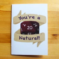 You're A Natural 20! - Greeting Card - DND Australia