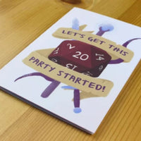 Greeting Card - Let's Get This Party Started - D&D Australia