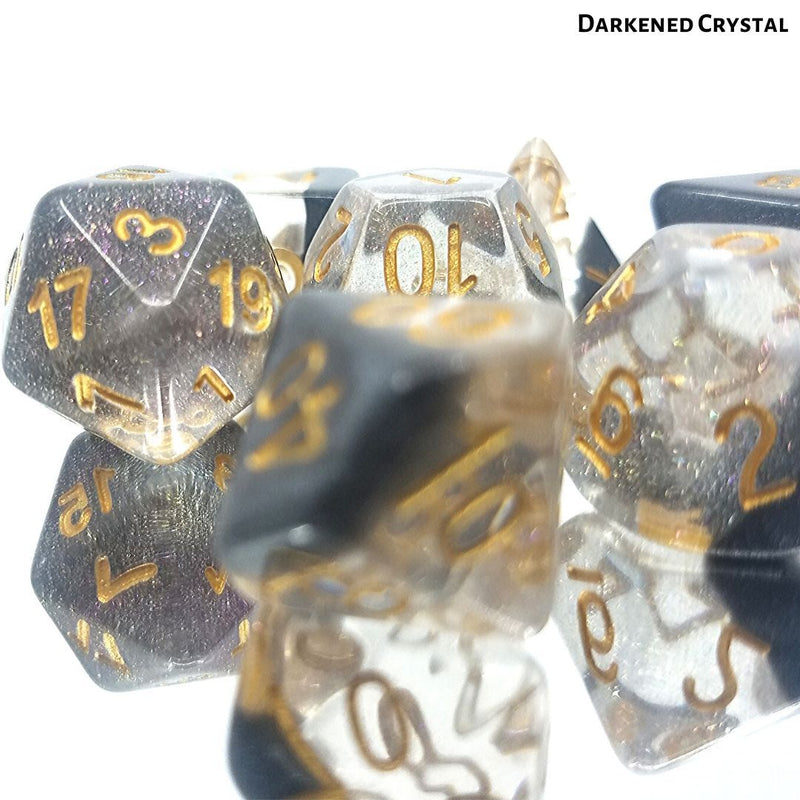 D&D Dice Set - Darkened Crystal - Resin Click Clacks