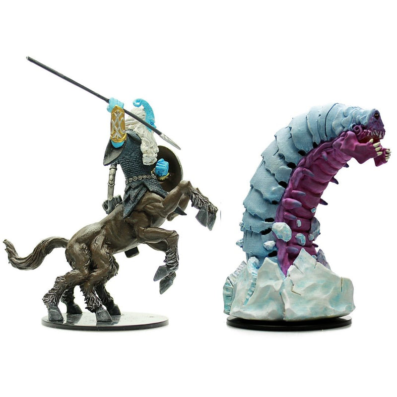 prepainted huge centaur and huge frost worm - dnd miniatures