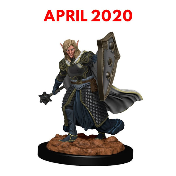 PREORDER: Male Elf Cleric 1pk  ||  D&D Premium Figures (Pre-Painted)