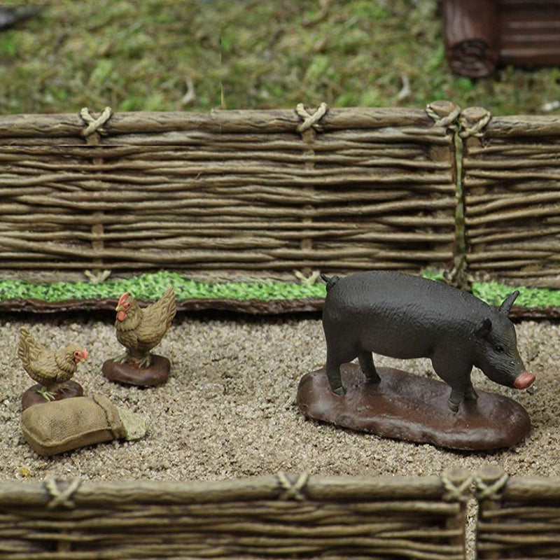 D&D Miniatures - Wizkids 4D - Medieval Homestead - Pre-Painted Pig & Chickens