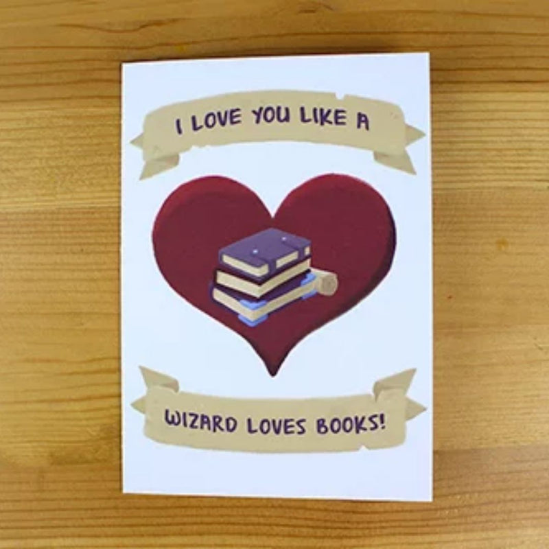Greeting Card - I Love You Like a Wizard - Fantasy RPG