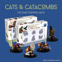 dnd minis - cats and catacombs - animal familairs