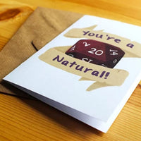 You're A Natural 20! - Greeting Card - RPG Australia