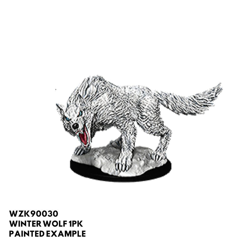 d&d miniatures - winter wolf