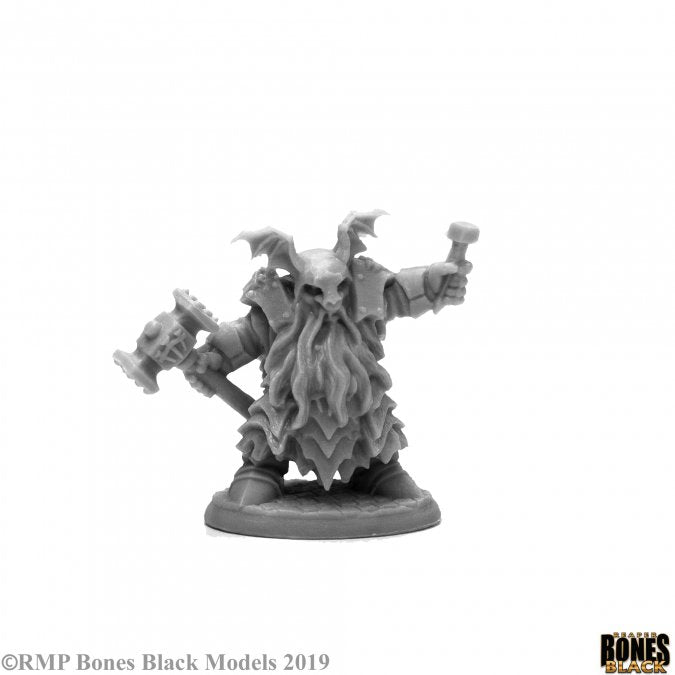 Reaper Miniatures - Duergar Cleric Male - Bones Black