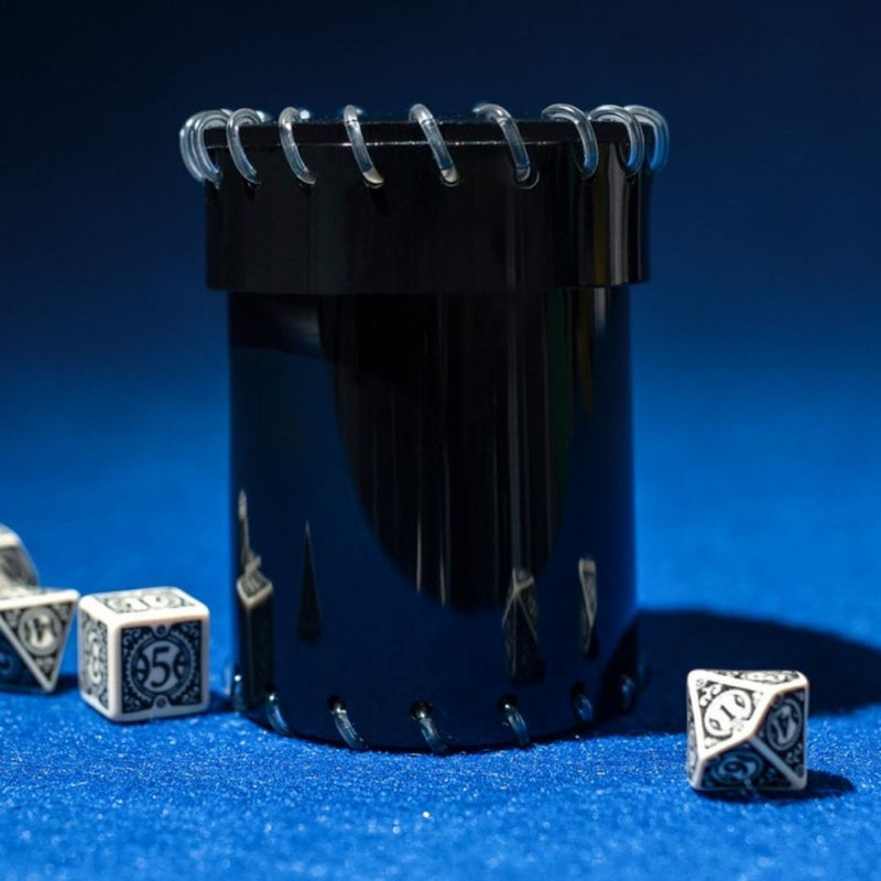 qworkshop black dice cup - transparent pvc