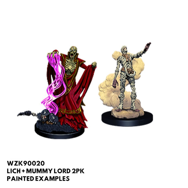 dnd minis - lich and mummy lord