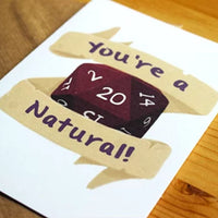 You're A Natural 20! - Greeting Card - Dungeons Dragons Australia