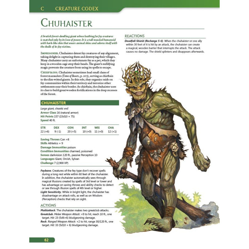 chuhaister - creature codex tome of beasts 5e
