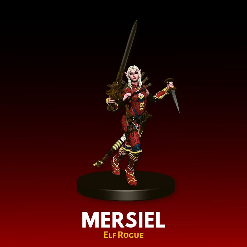DnD Minis - Merciel, Elf Rogue - Pre-painted Miniature