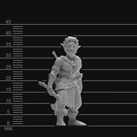 D&D Minis - Male Firbolg Barbarian - krakenship miniatures - unpainted scale