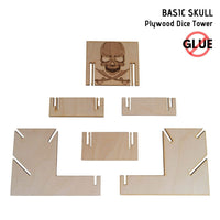 Dice Towers - e-Raptor - Basic Skull - Plywood - assembly